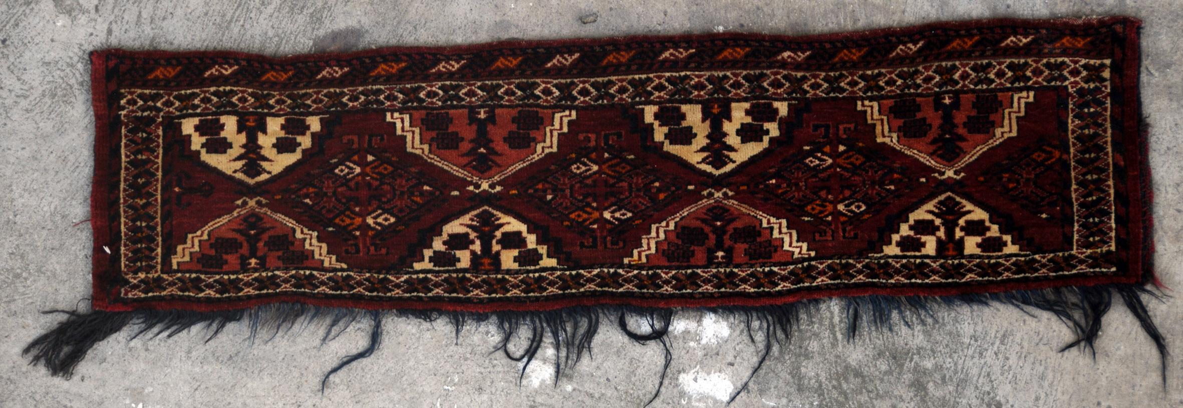 7 A Spellbinding Antique Ersari Afghan Jollar Www