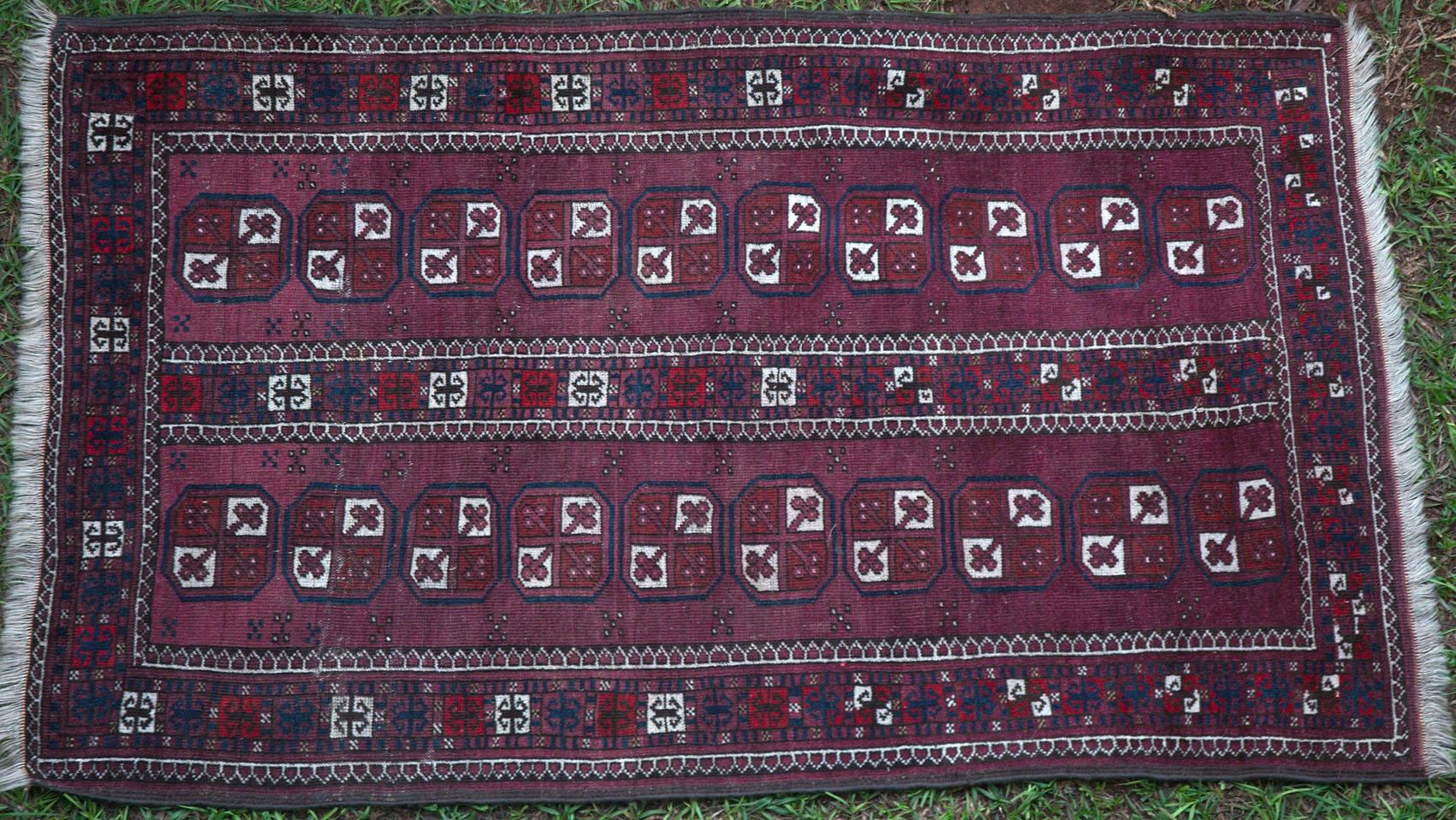 438 An Exemplary Old Turkoman Afghan Rug Www Bagface Co Uk