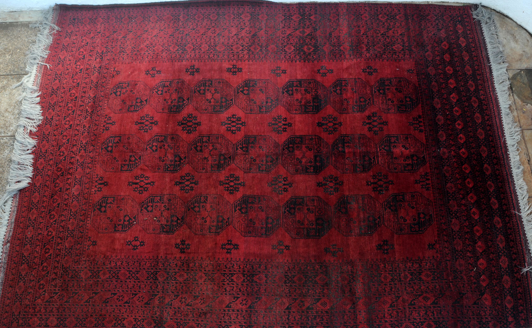 725 A Remarkable Old Afghan Ersari Carpet Www Bagface Co Uk