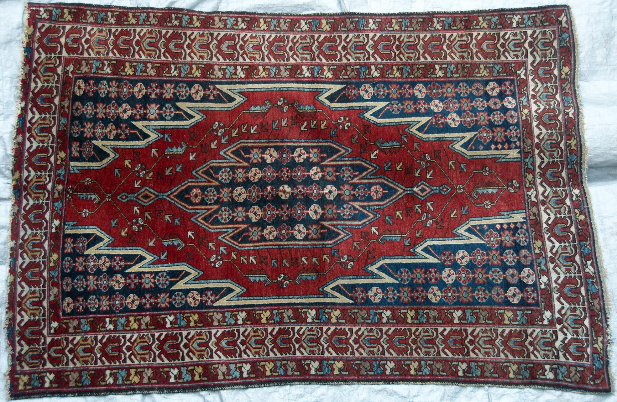 172 An Electrifying Antique Mazlaghan Persian Rug Www