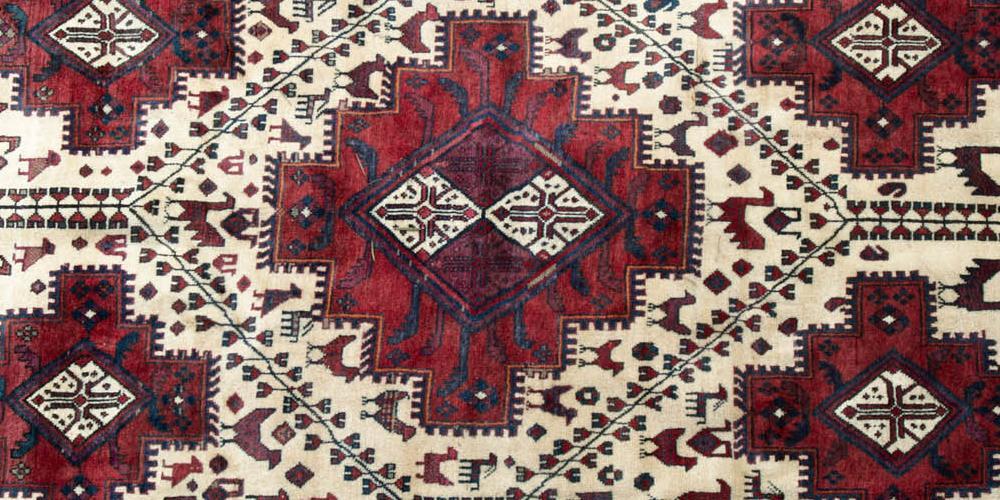 Qashqa'i Lori Persian Tribal Rug hand-spun wool