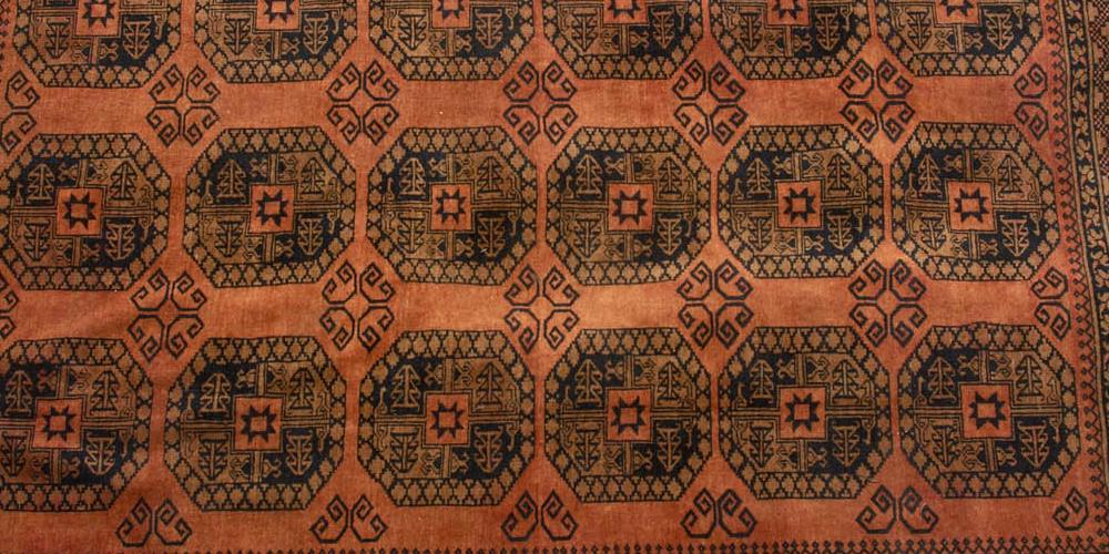 Golden Afghan Taghan Ersari Tribe Afghanistan Carpet