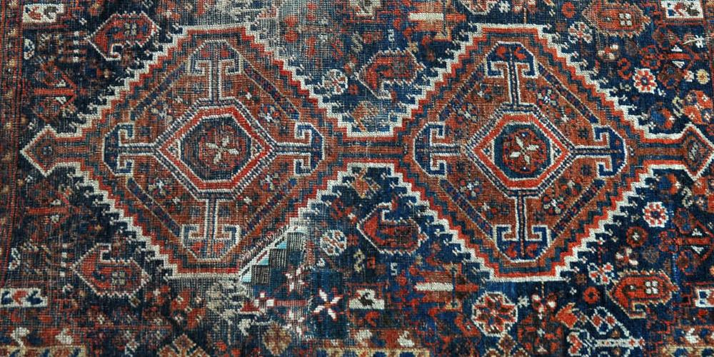 Antique Afshar Tribal Persian Rug with natural dyes