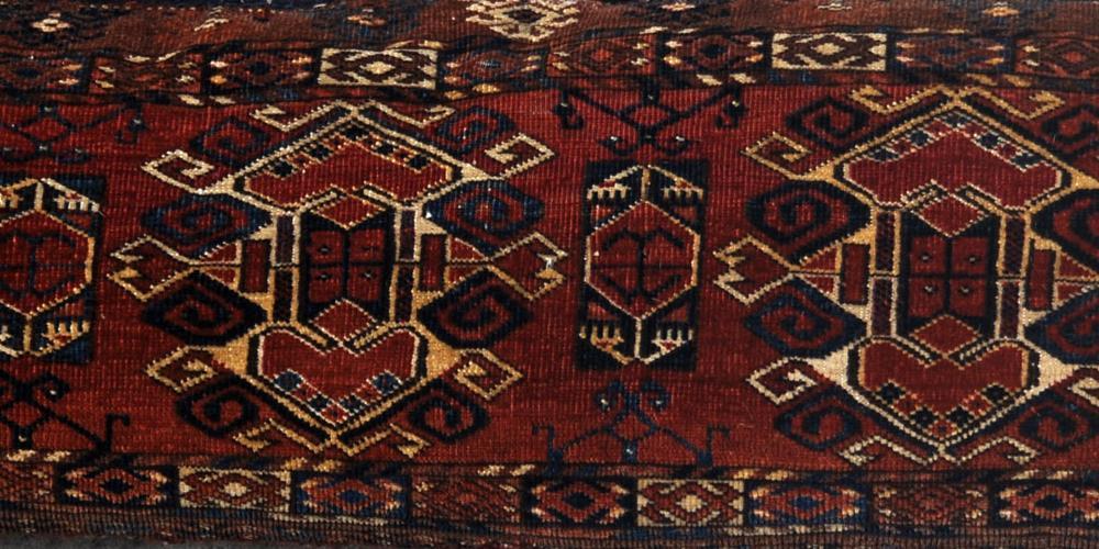 Antique Ersari Turkoman Aghan or Central Asian Torba