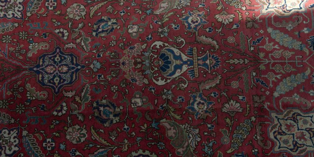 Tabriz Persian Rug old hand-spun wool