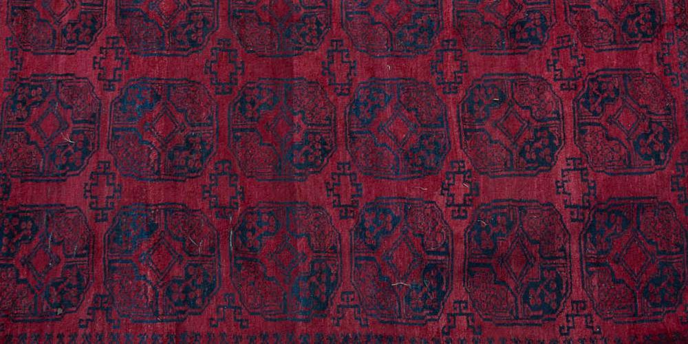 Afghan Ersari Antique Carpet Afghanistan hand-spun wools