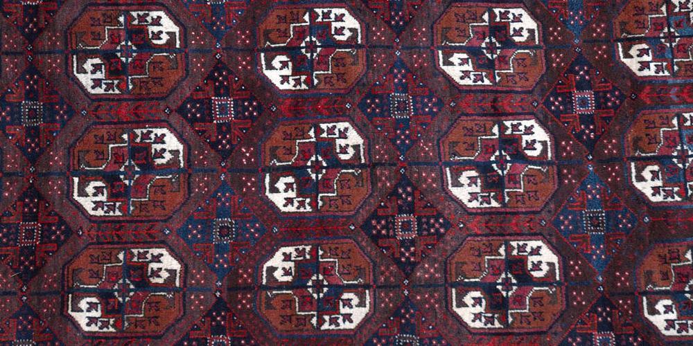 Old Baluch Persian or Afghan tribal rug Tekke gul