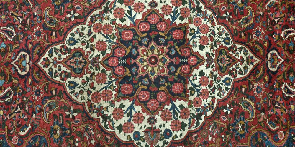 Antique Bachitari Persian tribal rug
