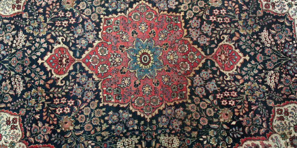 Antique Meshed or Mashad Khorossan Persian Carpet