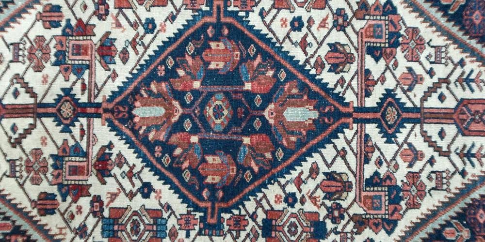 Antique Malayer northwest Persian rug