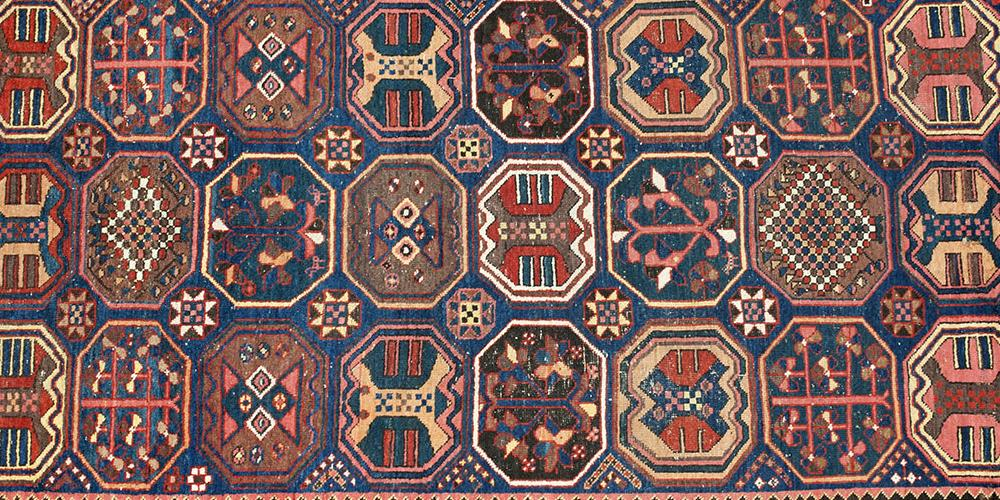Antique Bakhtiari Persian tribal long rug