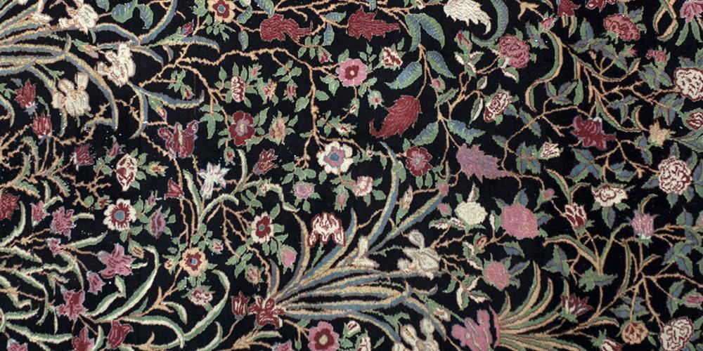 Old Qum or Ghom Persian rug