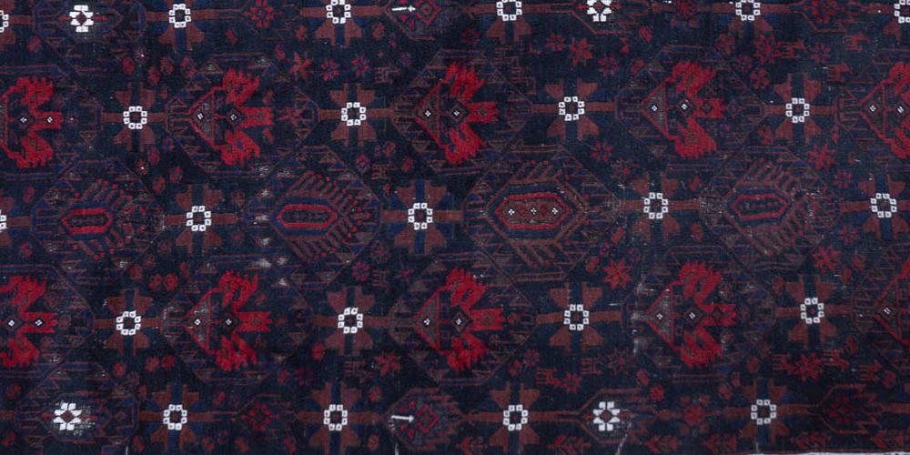 Antique Baluch Khorrassan Persian tribal rug
