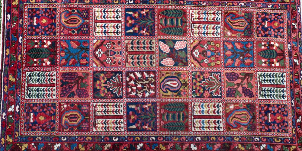Old to antique Bachtiari tribal Persian rug