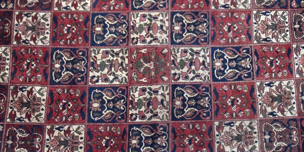 Old Bakhtiari Persian tribal or village carpet