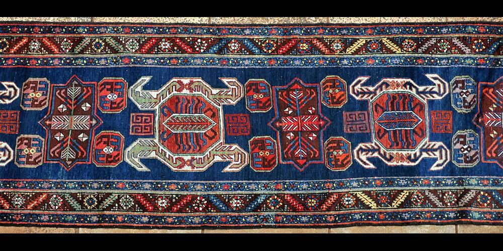 Antique Lenkoran Caucasian Runner