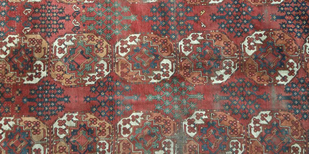 Antique Ersarti or Beshiri Afghan Carpet