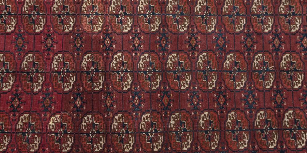 Old or antique Tekke Turkoman tribal rug