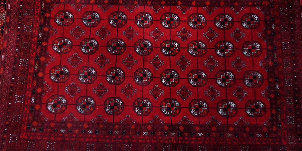 Afghan Tekke inspired carpet