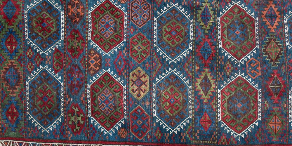 Antique Kurdish Persian Tribal Rug