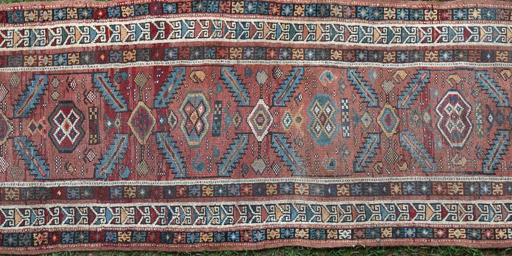 Antique Caucasian possibly Gendje Runner