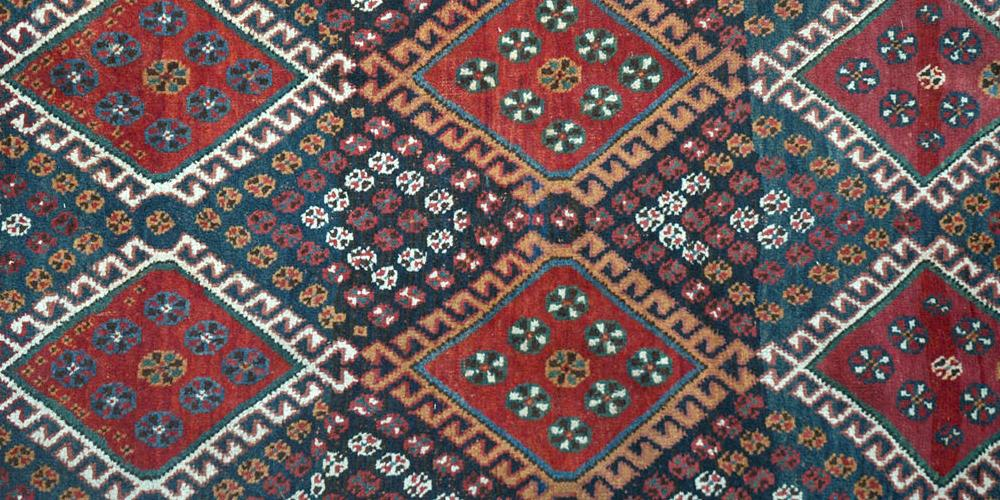 Antique Tribal Qashqa'i Persian Rug