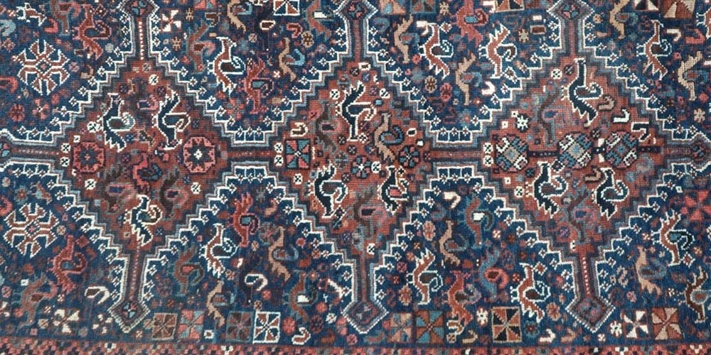 Antique Khamseh Confederacy tribal Persian Rug