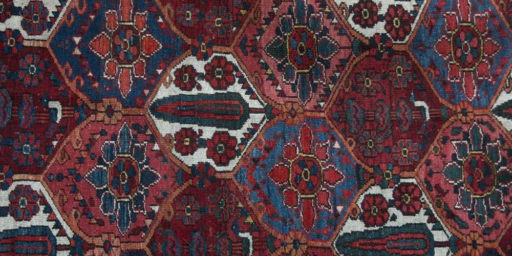 Antique Bakhtiari Persian Tribal Rug