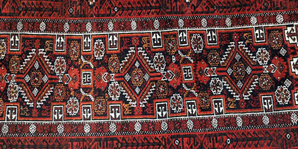 Antique Baluch Salar Khani Prayer Rug
