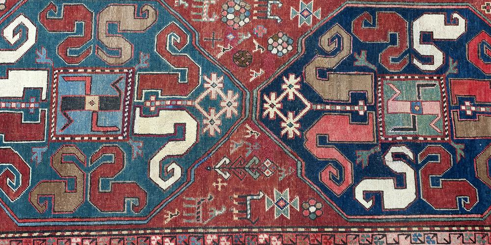 Antique Chelaberd Chondzoresk Caucasian tribal rug