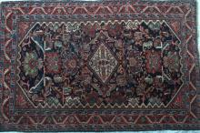 Antique Persian Bidjar Rug hand-spun wool natural dyes