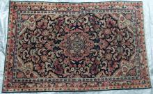 Jozan or perhaps Sarouk Persian Rug hand-spun wool