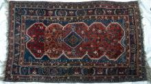 Antique Tribal Qashqa'i Persian Rug natural dyes hand-spun wool