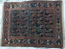 Antique Afshar Tribal Persian hand-spun wool