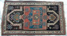 Antique Kazak Caucasian Prayer Rug hand-spun wool natural dyes