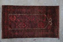Antique Afghan Kizilayak Turkoman Prayer Rug