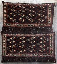 Antique Yomut Turkoman Tribal Central Asia Jawals Pair stuffed