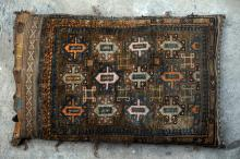 Baluch Afghan Tribal Storage bag stuffed hand-spun wool