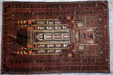 Antique Afghan or Central Asian Kizilayak Turkoman Prayer Rug