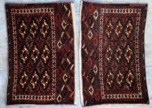 Antique Yomut Turkoman Tribal Central Asia Jawals Pair