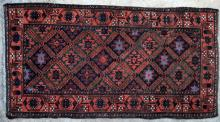Antique Baluch Taimuri Mushwani Tribal Prayer Rug Afghaistan