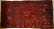 Old Antique Afghan Beshir Turkoman main carpet