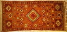 Antique Moroccan Ait Ouaouzguite tribal rug