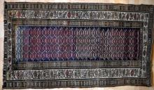 old or antique caucasian tribal rug