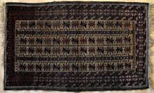 Old or antique Baluch Afghan tribal rug