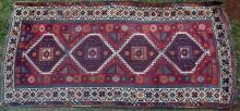 Antique Anatolian 'yuruk' village rug