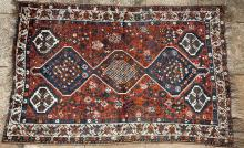 Old Shiraz Qashqa'i Persian tribal rug