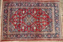 Old or antique Sarouk Mahal Persian rug