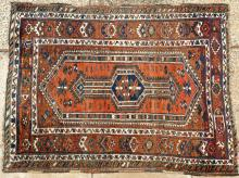 Old or antique Qashqa'i Tribal Persian rug