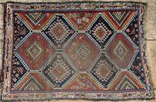 Antique Qashqa'i tribal Persian rug